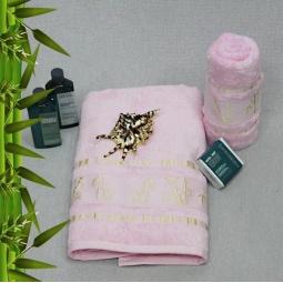 фото Полотенце махровое Mariposa Tropics pink. Размер полотенца: 50х90 см
