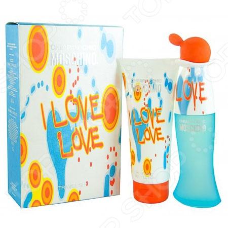Набор женский: туалетная вода и лосьон для тела Moschino I Love Love, 50 мл, 30 мл туалетная вода moschino i love love объем 100 мл вес 150 00