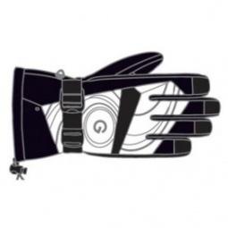 Купить Перчатки горнолыжные GLANCE Face (2011-12). Цвет: черный, белый