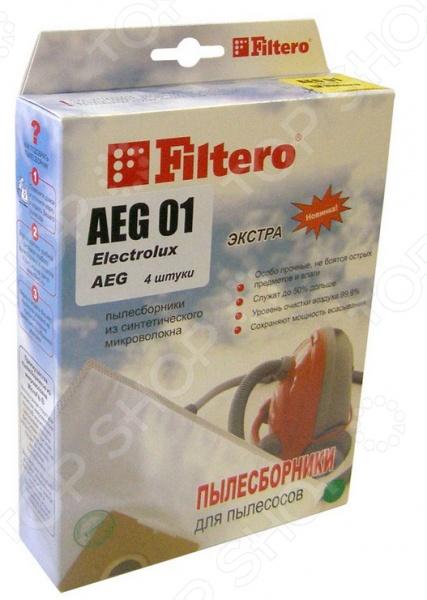 Мешки для пыли Filtero AEG-01 (4) Экстра