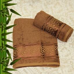 фото Полотенце махровое Mariposa Aqua brown. Размер полотенца: 70х140 см