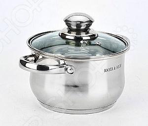 Кастрюля с крышкой Mayer&Boch с зеркальной полировкой посуда кухонная