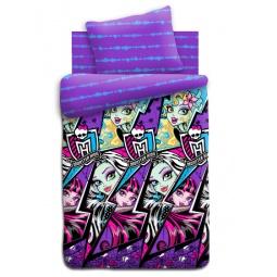 Купить Комплект постельного белья Monster High «Молнии». Детское