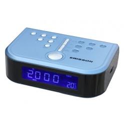 фото Радиочасы c термометром ERISSON RC-2206A. Цвет: синий