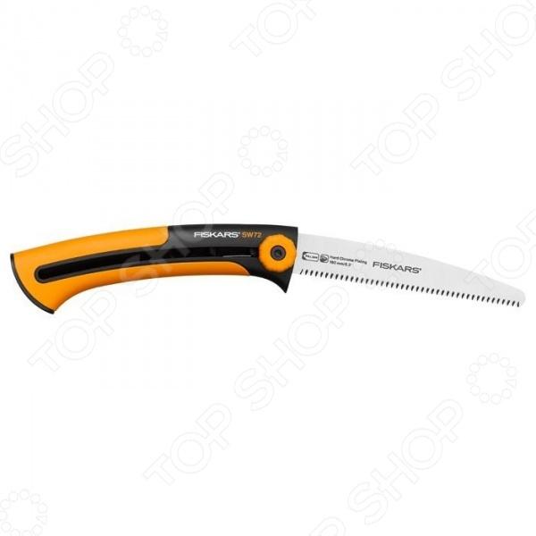 Пила строительная Fiskars XtractЛобзики. Ножовки. Пилы<br>Пила строительная Fiskars Xtract представляет собой отличный инструмент, который позволит эффективно и быстро выполнять разнообразные строительные и монтажные работы. Безопасность при хранении и переноске обеспечивается складной конструкцией, которая втягивает рабочее полотно внутрь рукояти. Сама рукоять двухкомпонентная и обеспечивающая надежный хват и удержание инструмента во время работы.<br>