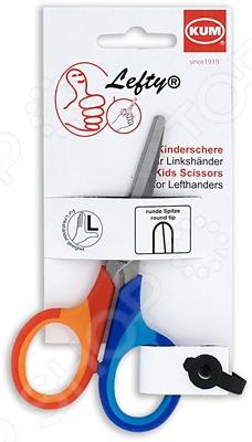 Ножницы для левшей KUM 9050222 K-SoftieНожницы школьные<br>Ножницы для левшей KUM 9050222 K-Softie предназначены для резания различных материалов, включая бумагу, картон, нитки, ткани и другие им подобные материалы. Лезвия выполнены из нержавеющей стали, что гарантирует длительный срок службы и хорошую износоустойчивость. Прочные пластиковые ручки обеспечивают комфорт во время работы и позволяют трудиться без устали длительные промежутки времени. Кроме того, закругленные концы лезвий делают эту модель пригодной для использования детьми. Данная модель предназначена специально для левшей.<br>