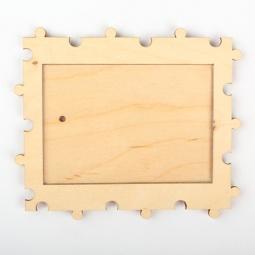 фото Заготовка деревянно-акриловая RTO «Пазл». Размер: 11,4х7,3 см