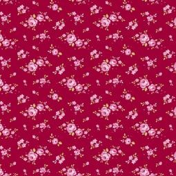 фото Отрез ткани Tilda Мелкие розы. Цвет: красный