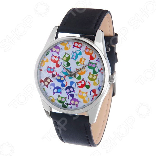 Часы наручные Mitya Veselkov «Много кошек» MV часы наручные mitya veselkov часы mitya veselkov одри на белом курит арт mv 38
