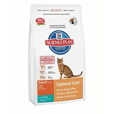 Купить Корм сухой для кошек Hill's Science Plan Optimal Care с тунцом