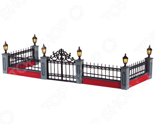 Фигурка керамическая с подсветкой Lemax «Забор» столбы на забор купить в иркутске