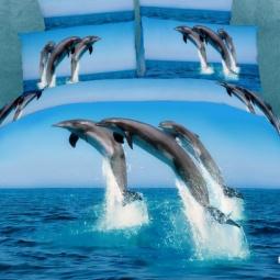 фото Комплект постельного белья Buenas Noches Delfini v More. Satin Fotoprint. 2-спальный