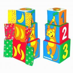 Купить Кубики обучающие мягкие Мякиши «Умная мартышка»