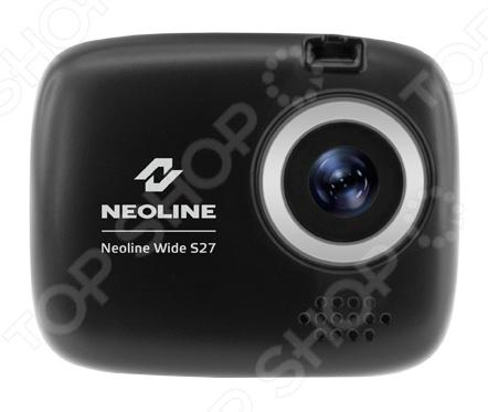 Видеорегистратор Neoline Wide S27Видеорегистраторы<br>Видеорегистратор Neoline Wide S27 это миниатюрная модель, обладающая качественным экраном с диагональю 1,5 дюйма и объективом с углом обзора 120 . Фирменное крепление позволяет очень легко и быстро снимать крепить регистратор на стекло. Небольшой размер позволит спрятать прибор за зеркалом заднего вида так, что он не будет мешать обзору. Встроенный микрофон будет полезен для записи разговора с сотрудником ДПС или с участниками ДТП. В видеорегистратор Neoline Wide S27 встроен датчик удара G сенсор , благодаря которому файлы, полученные в момент резкого торможения автомобиля, перемещаются в отдельную папку для защиты от перезаписи. Устройство оснащено датчиками движения, которые позволят контролировать, что происходило с машиной во время стояния на парковке. Видеорегистратор может работать от встроенного аккумулятора емкостью 240 мАч. Модель поддерживает карточки памяти microSD microSDHC до 32 Гб.<br>
