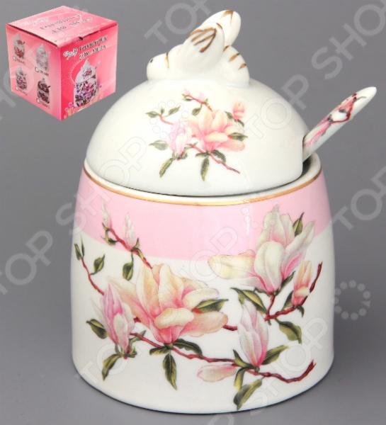 Горшочек для меда Elan Gallery «Орхидея на розовом»