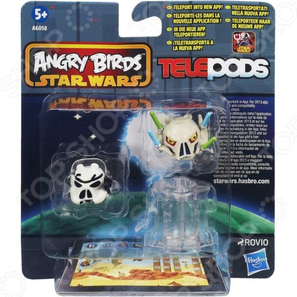 Набор игровой для мальчика Hasbro A6058 Star Wars. В ассортиментеИгровые наборы для мальчиков<br>Товар продается в ассортименте. Вид товара при комплектации заказа зависит от наличия товарного ассортимента на складе. Набор игровой для мальчика Hasbro A6058 Star Wars развлекательная игра по мотивам игры Angry Birds Star Wars II. В комплекте находятся 2 фигурки и телепорт, выполненные из качественного и безопасного для ребенка материала. Фигурки выполненны с приятной детализацией и имеют небольшой размер. Поставив фигурку на TELEPODS станцию, и разместив конструкцию на камере мобильного телефона или планшета, то указанная фигурка будет перемещена в специальное мобильное приложение.<br>