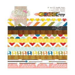 фото Набор бумаги Glitz Design Color me happy. Количество листов: 24. Размер: 20х20 см