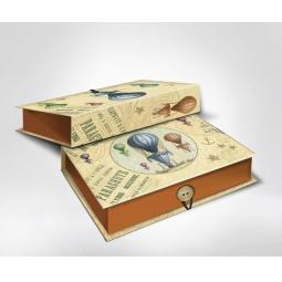 фото Шкатулка-коробка подарочная Феникс-Презент «Воздушный шар». Размер: M (20х14 см). Высота: 6 см