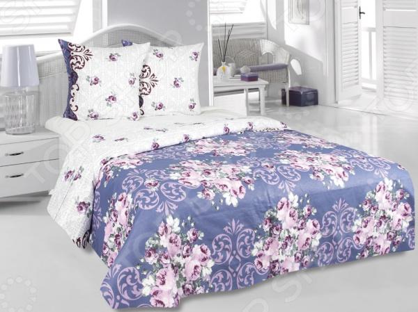 Комплект постельного белья Tete-a-Tete «Идиллия». 2-спальный2-спальные<br>Комплект постельного белья Tete-a-Tete Идиллия изготавливается из хлопковой ткани с улучшенными потребительскими свойствами, а рисунки создаются специально для этой продукции и часто обновляются в соответствии с последними тенденциями моды. Набор станет гармоничной частью интерьера и повседневной жизни. Это постельное белье будет долго радовать хозяев, ведь оно не линяет, не садится и отлично выдерживает более 500 стирок. Кроме того, при изготовлении постельного белья используются устойчивые гипоаллергенные красители.<br>