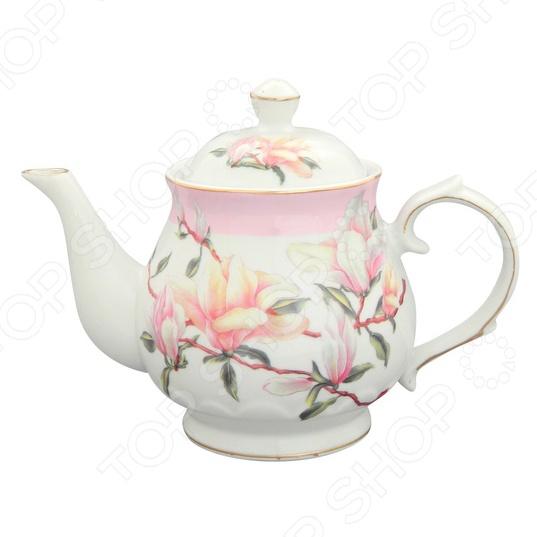 Чайник заварочный Elan Gallery «Орхидея на розовом»