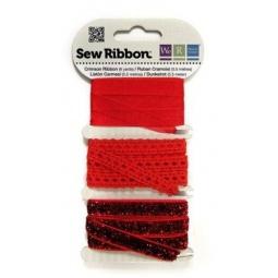 фото Набор декоративных лент We R Memory Keepers SewRibbon. Цвет: красный