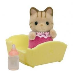 фото Игрушка-зверюшка Sylvanian Families 5186 «Малыш. Полосатый котенок»