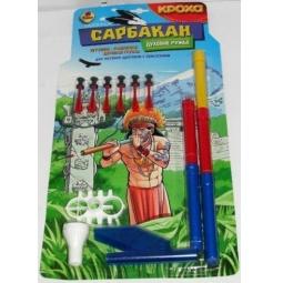 фото Оружие игрушечное Кроха Ружье духовое Сарбакан и 6 дротиков на присосках