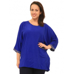 Блуза Pretty Woman «Бузина». Цвет: синий