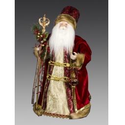 фото Игрушка новогодняя Holiday Classics «Дед Мороз с елочной игрушкой и с красными ягодками»