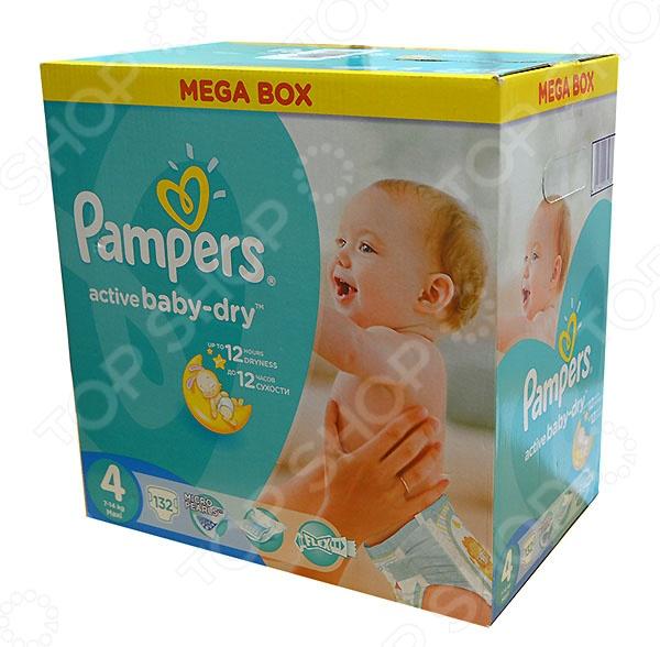 Подгузники Pampers Active Baby Maxi Мега упаковка подгузники pampers active baby dry размер 4 7 14 кг 132 шт