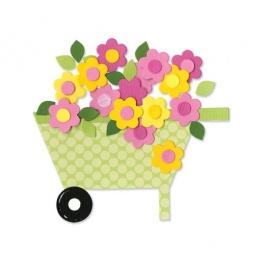 фото Форма для вырубки Sizzix Bigz Die Тачка с цветами