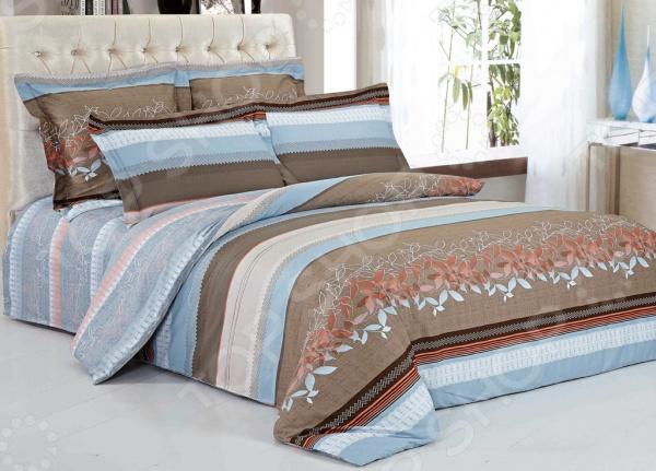 Комплект постельного белья Softline 09856. 1,5-спальный1,5-спальные<br>Комплект постельного белья Softline 09856 это незаменимый элемент вашей спальни. Человек треть своей жизни проводит в постели, и от ощущений, которые вы испытываете при прикосновении к простыням или наволочкам, многое зависит. Чтобы сон всегда был комфортным, а пробуждение приятным, мы предлагаем вам этот комплект постельного белья. Красивое оформление и высокое качество комплекта гарантируют, что атмосфера вашей спальни наполнится теплотой и уютом, а вы испытаете множество сладких мгновений спокойного сна. В качестве сырья для изготовления этого изделия использованы нити хлопка. Натуральное хлопковое волокно известно своей прочностью и легкостью в уходе. Волокна хлопка состоят из целлюлозы, которая отлично впитывает влагу. Хлопок дышит и согревает лучше, чем шелк и лен. Не забудем, что хлопок несъедобен для моли и не деформируется при стирке. Комплект постельного белья Softline выполнен из ткани сатин. Полотно имеет гладкую и шелковистую лицевую поверхность, не уступающую по качеству шелку. Кроме того, данный тип ткани сохраняет свою прочность и привлекательный вид даже после многочисленных стирок. Главное, соблюдать рекомендации по уходу от производителя. Необходимо стирать при температуре, указанной на ярлычке, с использованием порошка для цветного белья. Не следует прибегать к применению хлорсодержащих средств и отбеливателей. Желательно выворачивать белье наизнанку перед стиркой.<br>