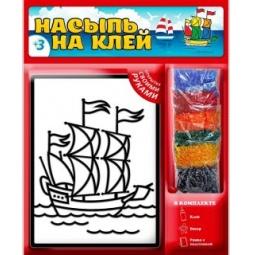 фото Набор для изготовления аппликаций Татой «Насыпь На Клей. Кораблик»
