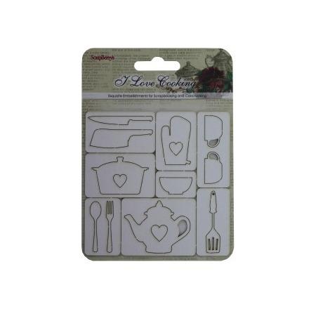 Купить Вырубки из чипборда ScrapBerry's «Готовим дома» №3