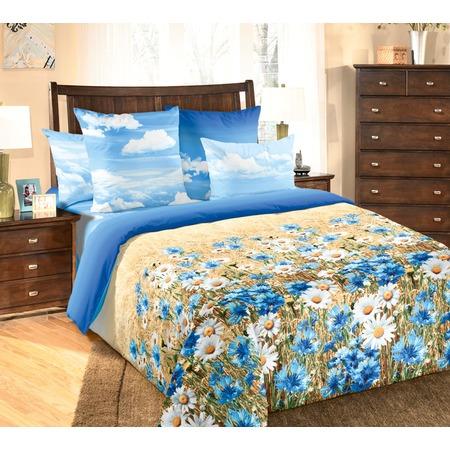 Купить Комплект постельного белья ТексДизайн «Васильки» 4250П. Евро