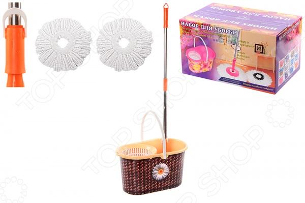 Набор для уборки: швабра, ведро и насадки Violet 09000/80 «Плетенка»