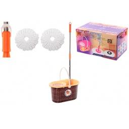 Купить Набор для уборки: швабра, ведро и насадки Violet 09000/80 «Плетенка»