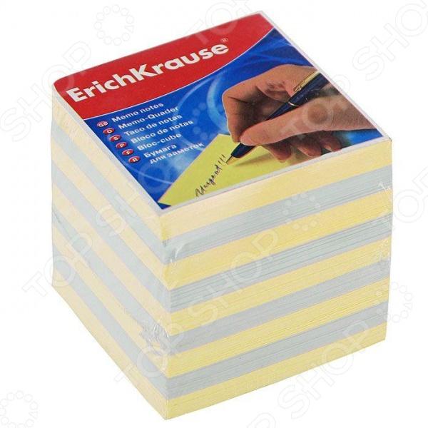 Блок для записей Erich Krause. Цвет: желтый