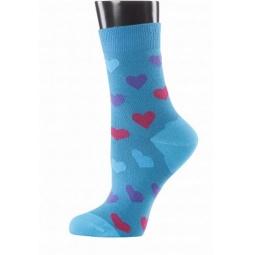 фото Носки женские Teller Hearts. Цвет: бирюзовый