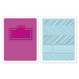 фото Набор форм для эмбоссирования Sizzix Textured Impressions Обложки для блокнота