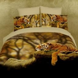 фото Комплект постельного белья Domomania Savannah. Satin Fotoprint. Евро