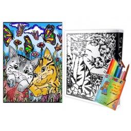 Купить Папка-раскраска Color Velvet «Котята»