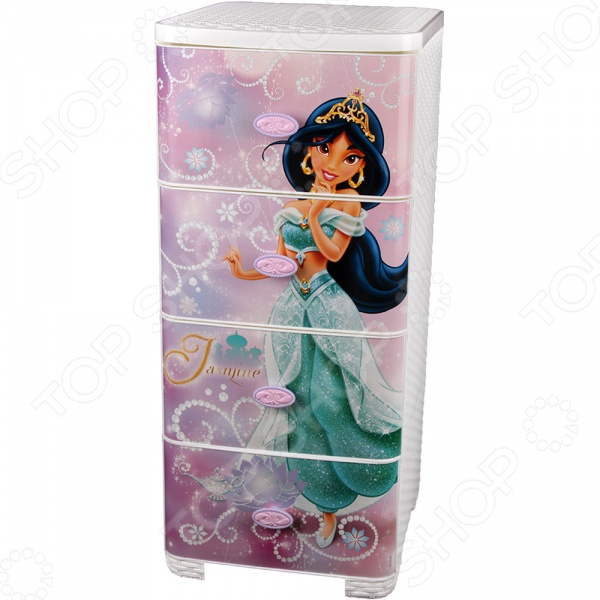 Комод 4-х секционный плетеный Альтернатива Disney «Жасмин»