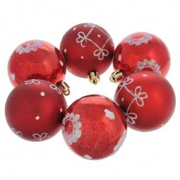 фото Набор новогодних шаров Феникс-Презент 35506 «Узорное ассорти»