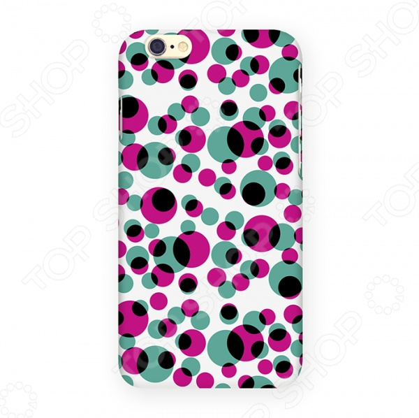 Чехол для iPhone 6 Mitya Veselkov «Цветные кружки» mitya veselkov чехол для iphone 6 скандинавская лошадка