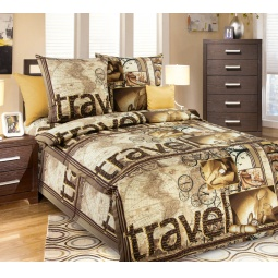 Купить Комплект постельного белья Белиссимо «Трэвэл». 1,5-спальный