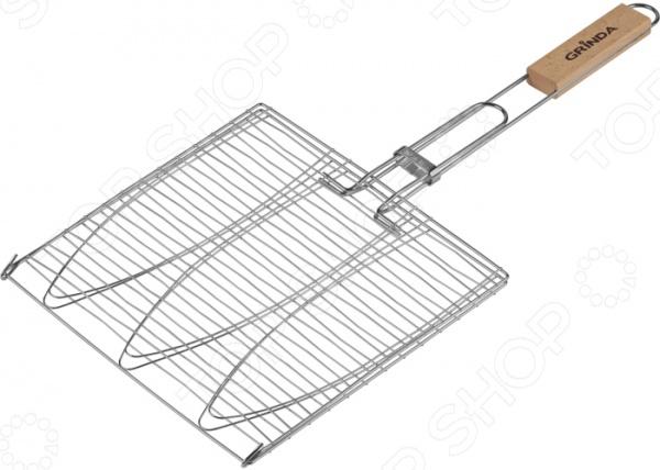 Решетка-гриль для рыбы трехместная Grinda Barbecue 424721 решетка гриль grinda barbecue 170x85mm 424730