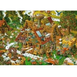 Купить Пазл 1500 элементов Heye «Забавная ферма» Michael Ryba