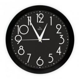 фото Часы настенные Вега П 1-6/7-280 «Черная классика»