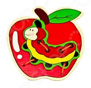 Игрушка развивающая Mapacha «Шнуровка. Яблоко»